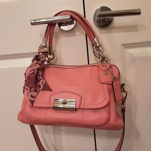 Coach Kristen Pink Rose Leather  Satchel
